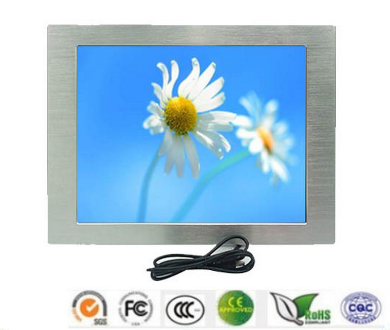 15 Inch Embedded Industrial LCD Monitor with VGA/DVI Input