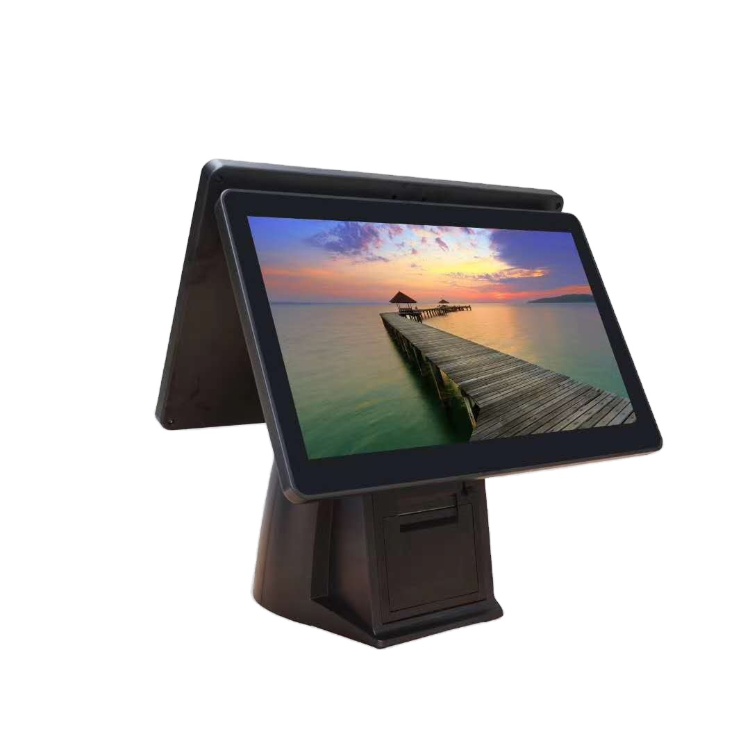 17 inch All in one POS PC with 15 inch Customer Display